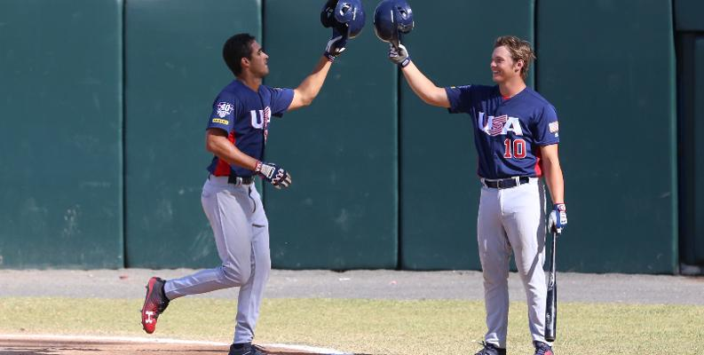 Greene (left) and Callihan paced the offense for USA Baseball.