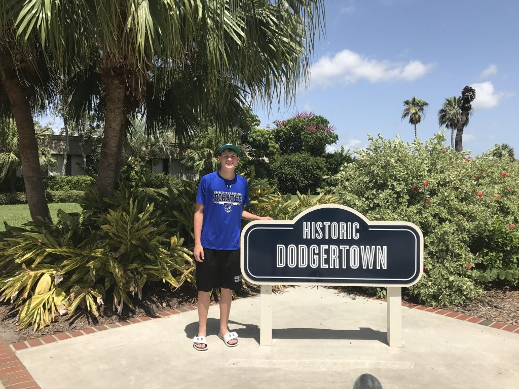 Ingram at Historic Dodgertown during Baseball Factory's Pro Select Training event.