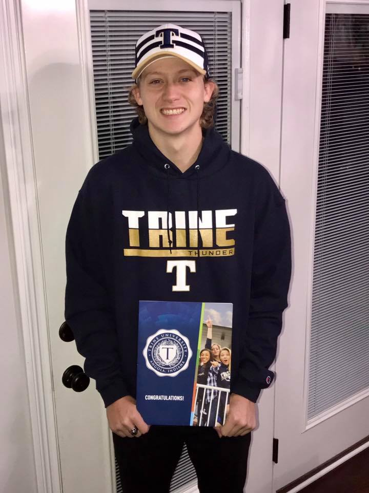 Ingram, after committing to play at Trine University.