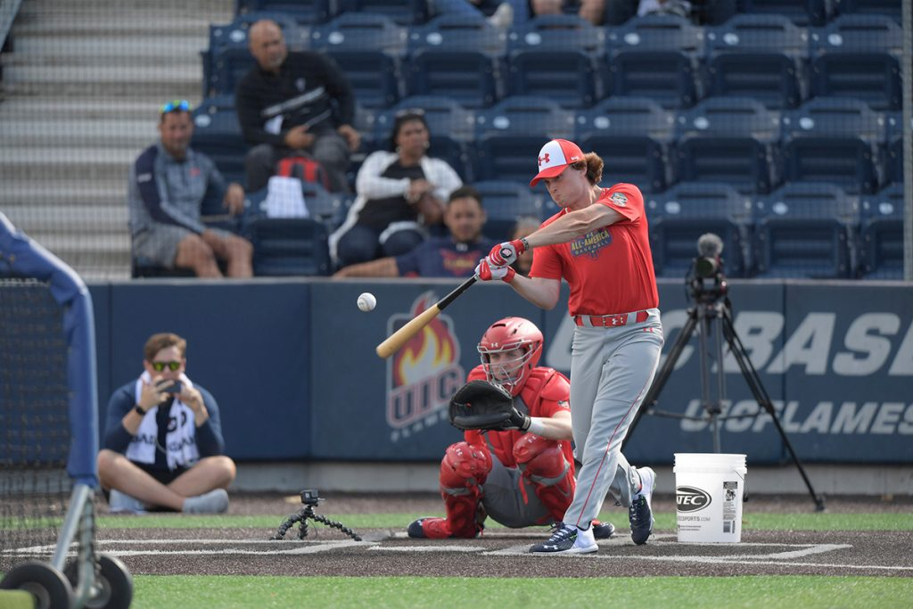 Blaze Jordan during the Home Run Derby prelims at UIC